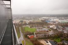 het uitzicht vanaf het HNK-gebouw, 4 februari 2016