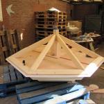 Het begin van het dak